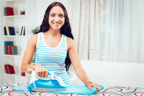 Young Maid Ironing Stock photo © MilanMarkovic78