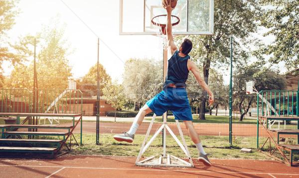 Basketball Fähigkeiten jungen Straße Stock foto © MilanMarkovic78