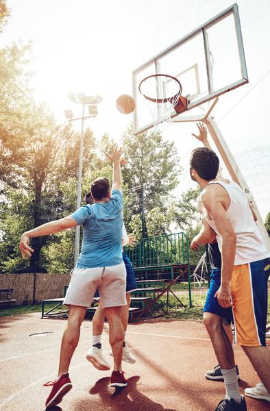 Straße Basketball vier Spieler Ausbildung Freien Stock foto © MilanMarkovic78
