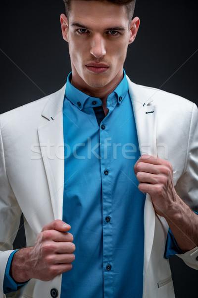 Imposing Young Man Stock photo © MilanMarkovic78
