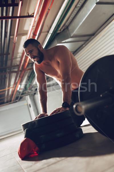 Assassino allenamento giovani esaurimento muscolare uomo Foto d'archivio © MilanMarkovic78