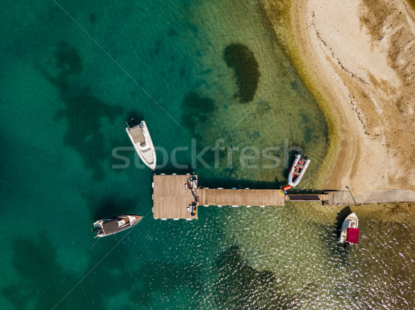 Beach Landscape With Tied Boats Stock photo © MilanMarkovic78