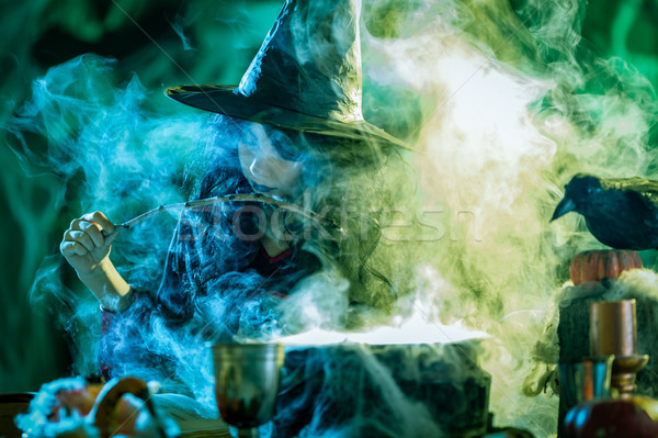 Young Witch Is Cooking With Magic Stock photo © MilanMarkovic78
