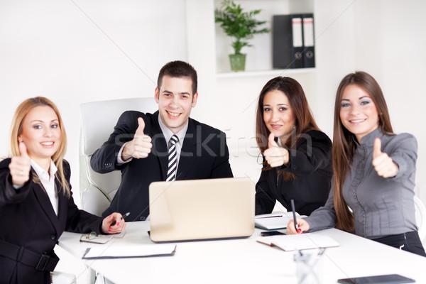 Zdjęcia stock: Zespół · firmy · cztery · szczęśliwy · ludzi · biznesu