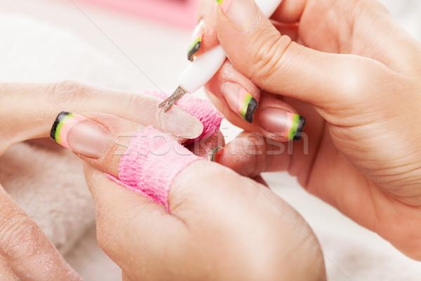 マニキュア 治療 化粧品 女性 美 洗浄 ストックフォト © MilanMarkovic78