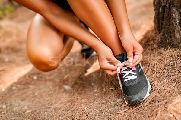 ジョグ クローズアップ 認識できない 女性 人 ストックフォト © MilanMarkovic78