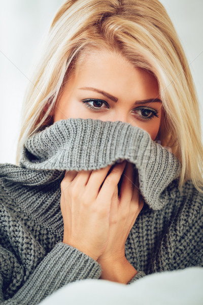 Warm Up With A Sweater  Stock photo © MilanMarkovic78