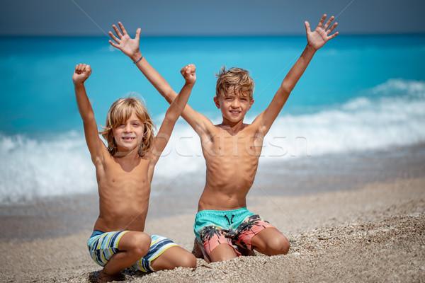 Stock photo: Catch Summer Sun!