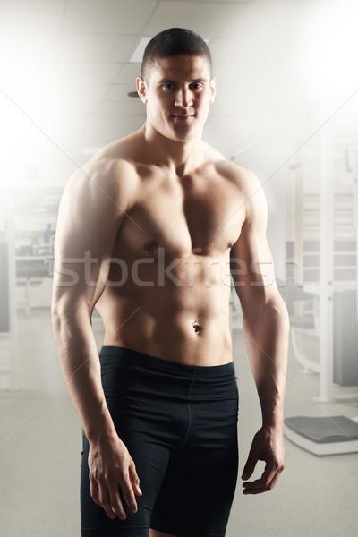 Muscular Man At The Gym Stock photo © MilanMarkovic78