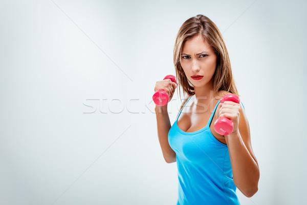 Vrouw mooie fitness vrouw ernstig gezicht Stockfoto © MilanMarkovic78