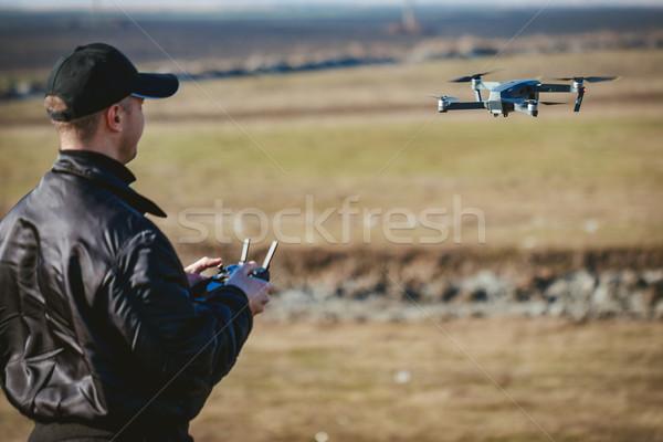 Man Navigating A Drone Stock photo © MilanMarkovic78