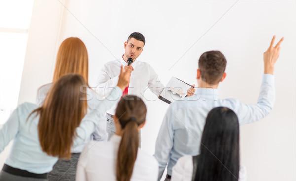 Businessman Giving Presentation Stock photo © MilanMarkovic78