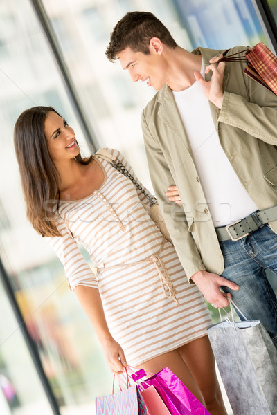 Happy Couple Shopping Stock photo © MilanMarkovic78