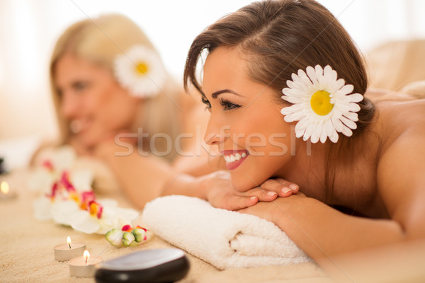 Two Girls In The Spa Centre Stock photo © MilanMarkovic78
