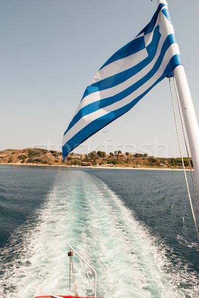 Greece flag Stock photo © MilanMarkovic78