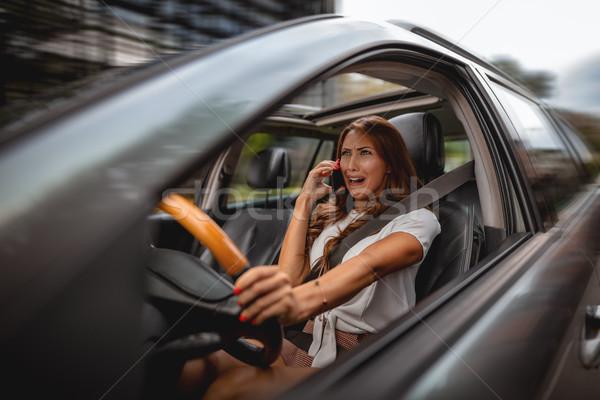 Kötü haber sürücü kadın el Stok fotoğraf © MilanMarkovic78