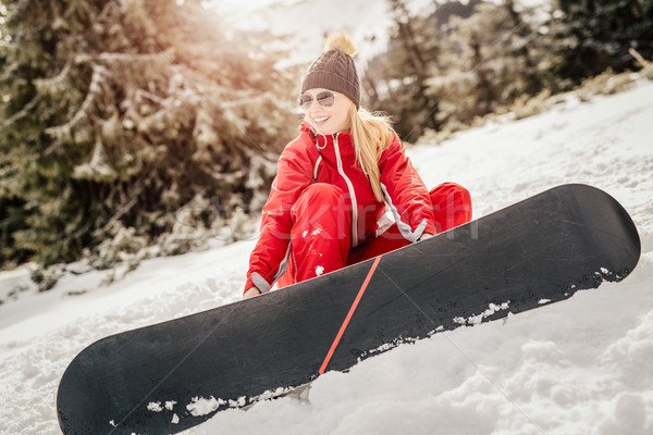 Female Snowboarder Stock photo © MilanMarkovic78