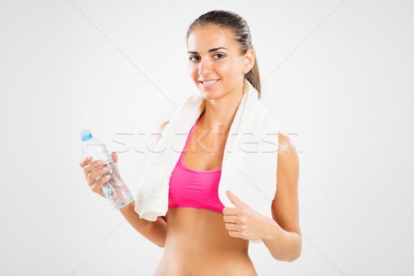 água quebrar fitness mulher jovem Foto stock © MilanMarkovic78