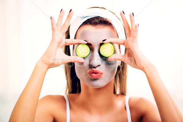 Stock photo: Girl Having Face Treatment