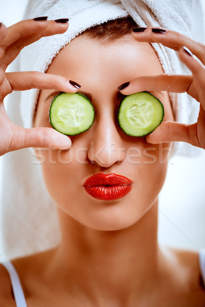 Girl Having Face Treatment Stock photo © MilanMarkovic78