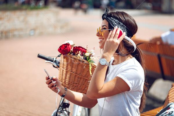 Music Makes Her Happy Stock photo © MilanMarkovic78