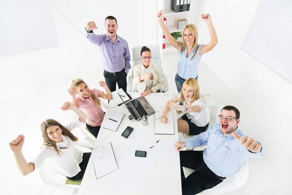 Happy Business Team Stock photo © MilanMarkovic78