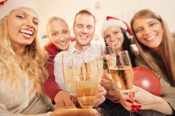 Toasting For Christmas Or New Year Stock photo © MilanMarkovic78