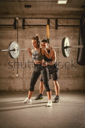 Crossfit Training With Coach Stock photo © MilanMarkovic78
