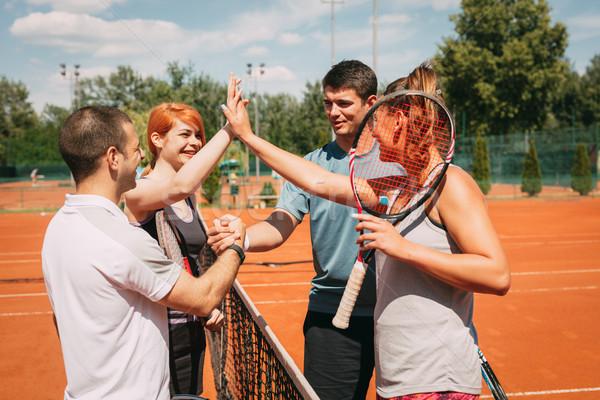 Greeting Before Tennis Match Stock photo © MilanMarkovic78
