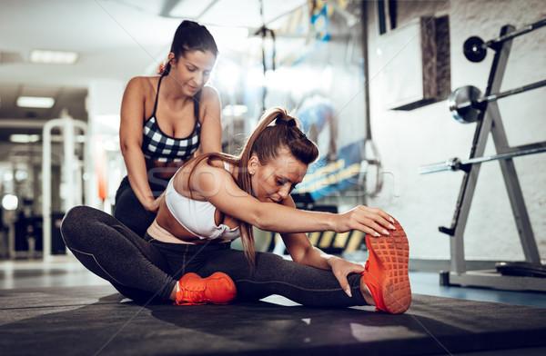 Formación entrenador hermosa ejercicio Foto stock © MilanMarkovic78
