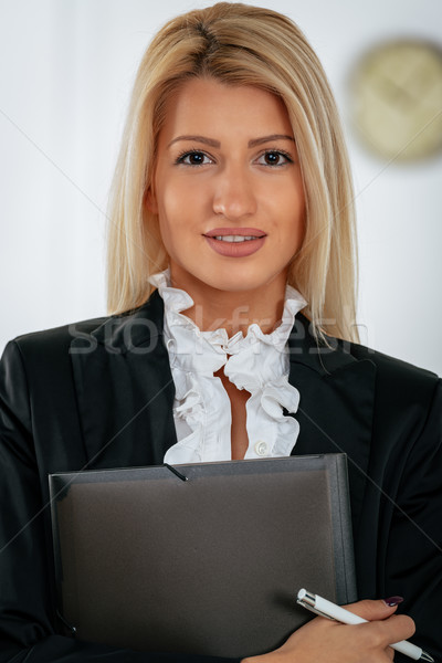 Ambicja młodych kobieta interesu stałego biuro Zdjęcia stock © MilanMarkovic78
