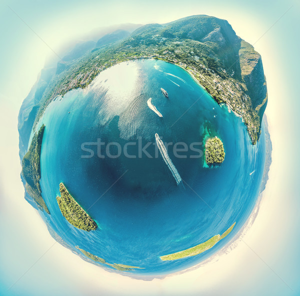 Bolygó édenkert tenger gömb alakú panoráma kicsi Stock fotó © MilanMarkovic78