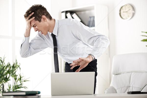 悪い知らせ 小さな ビジネスマン オフィス 怒っ ストックフォト © MilanMarkovic78