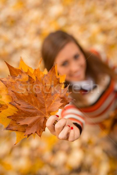 Autumn Girl Stock photo © MilanMarkovic78