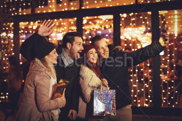 Stock photo: Christmas Selfie