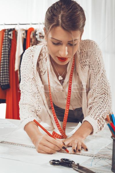 Divat designer varr minta fiatal női Stock fotó © MilanMarkovic78