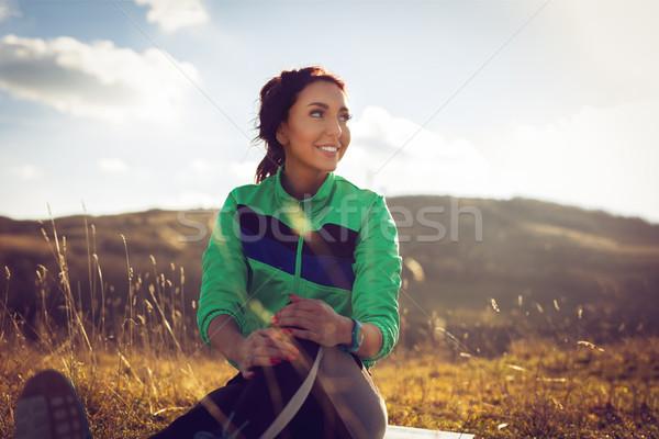 Mi mundo jóvenes mujer de la aptitud correr Foto stock © MilanMarkovic78