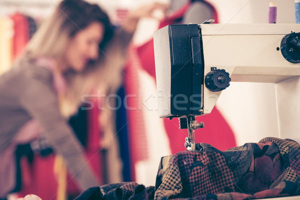 Close-up Of Sewing Machine Stock photo © MilanMarkovic78