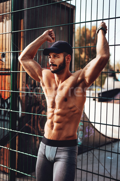 Muscular Man After Workout Stock photo © MilanMarkovic78