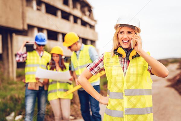 Stock photo: Female Architect