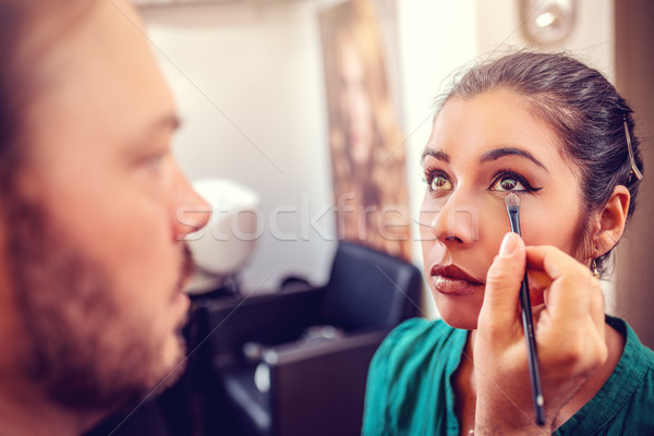 Makeup Man Artist Stock photo © MilanMarkovic78