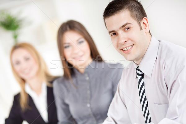 ビジネスマン 幸せ 小さな オフィス 見える カメラ ストックフォト © MilanMarkovic78