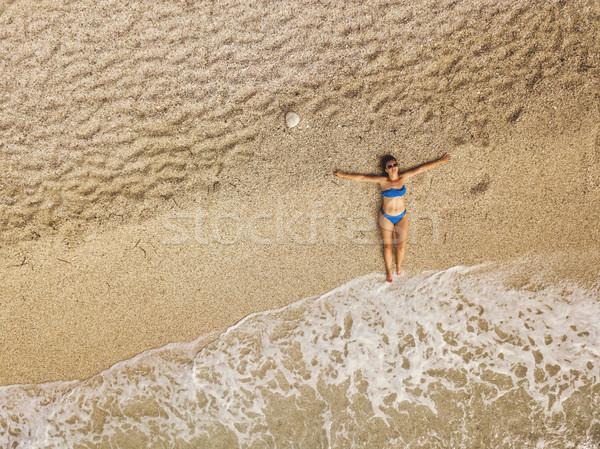 Completo gozo topo ver bela mulher Foto stock © MilanMarkovic78