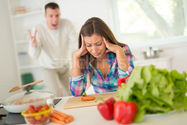 Quarrel In Kitchen Stock photo © MilanMarkovic78