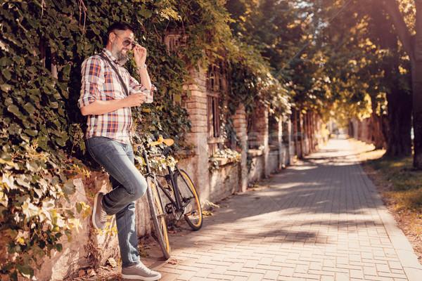 Taking A Quick Break Stock photo © MilanMarkovic78