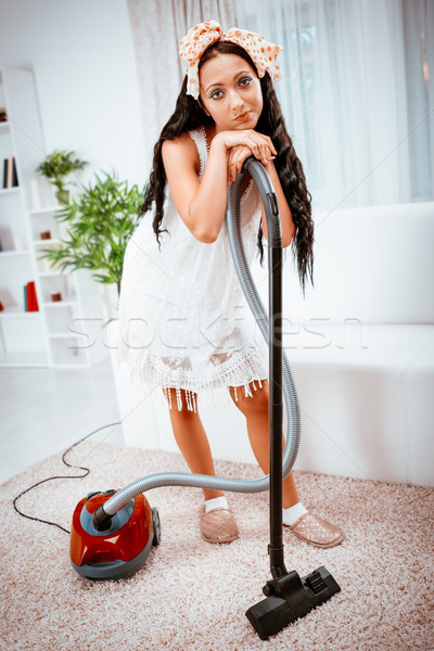 Housewife With Vacuum Cleaner Stock photo © MilanMarkovic78