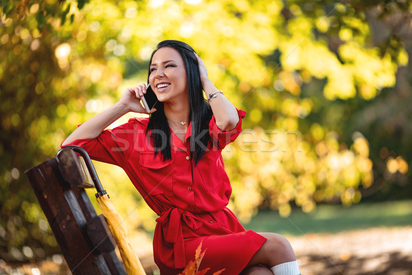 Good News On The Phone Stock photo © MilanMarkovic78