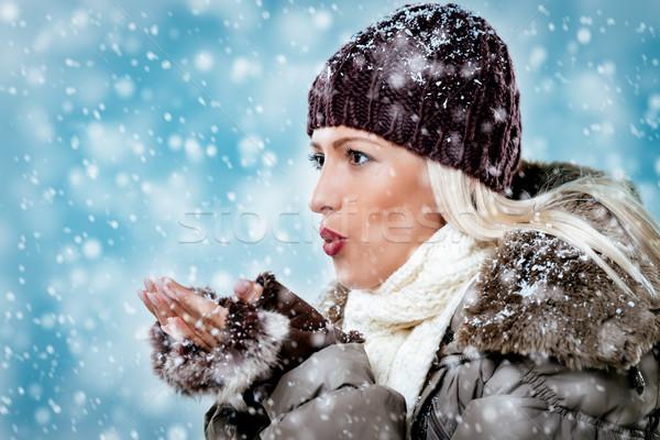 Joy Of The First Snow  Stock photo © MilanMarkovic78