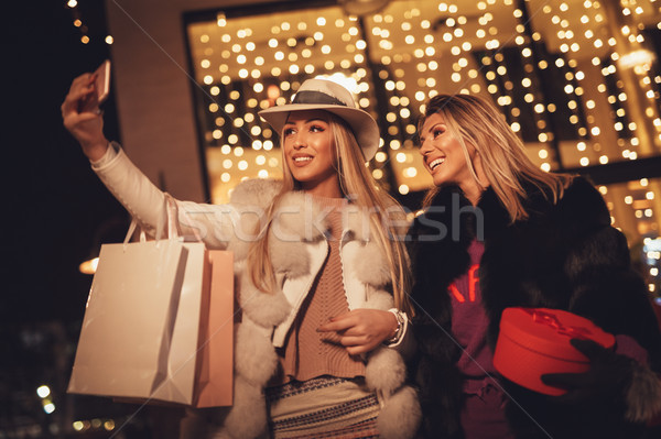 Selfie At The City In Holiday Time Stock photo © MilanMarkovic78