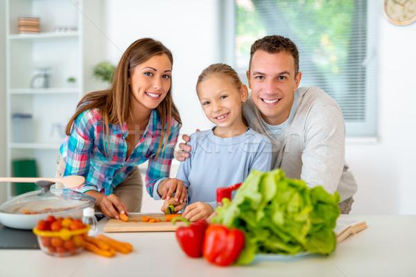 Сток-фото: образование · растительное · красивой · молодые · семьи · приготовления